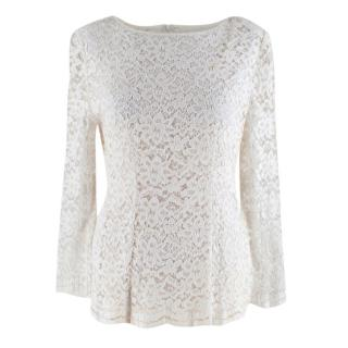 Romiga Ivory Lace Long Sleeve Top