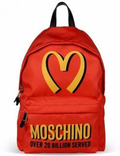 Moschino Couture Red McDonalds Backpack