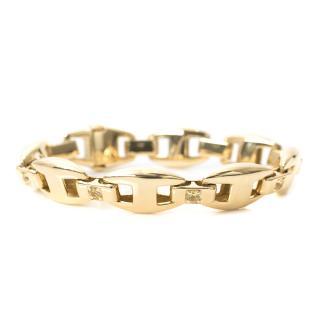 Herm�s Gold Diamond Link Bracelet