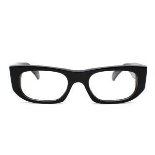 Cutler And Gross Black Acetate Handmade Rectangular Glasses
