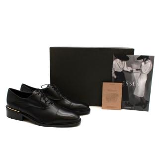 Essen Black Leather The Modern Oxford Shoes