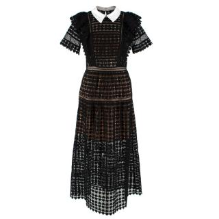 Self Portrait Black Lace Midi Dress