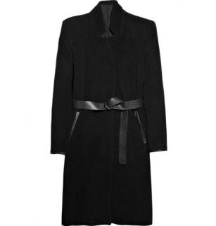 Acne Black Galactic wool-blend belted coat