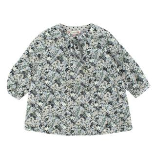 Bonpoint Green Floral Cotton Dress