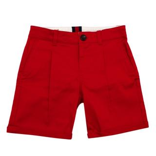 Gucci Red Cotton Kids Tailored Shorts