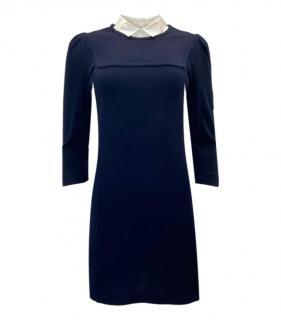 Sandro Blue Wool Blend Shirt Dress