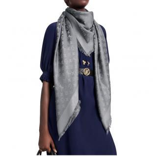 Louis Vuitton Monogram Shine Shawl in Charcoal