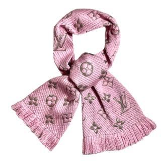 Louis Vuitton Pink Logomania Shine Scarf