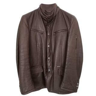 Paul & Shark Brown Leather Jacket