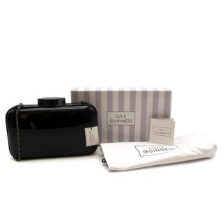 Lulu Guinness Black Fifi Patent Leather Clutch