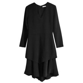 Givenchy Layered Black Crepe Dress