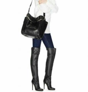 Jimmy Choo Textured Leather Giselle 120 OTK Boots
