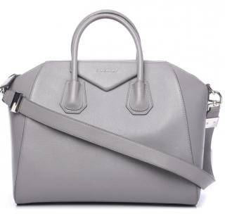 Givenchy Sugar Goatskin Medium Antigona in Pearl Grey