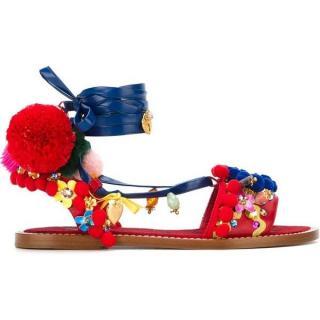 Dolce & Gabbana Pom-Pom Embellished Sandals
