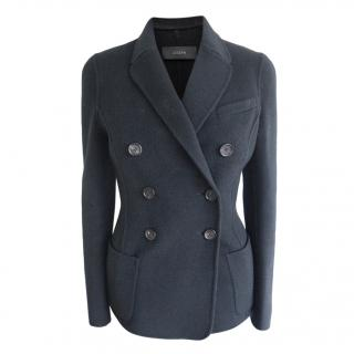 Joseph Black Cashmere & Wool Tailored Double Breasted Jacket