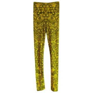 Alexander McQueen Resort Collection Yellow Dragonfly Leggings