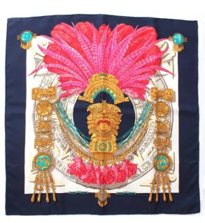 Hermes Buddha Statue Silk Scarf 90