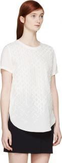 3.1 Philip Lim Embroidered Silk T-Shirt