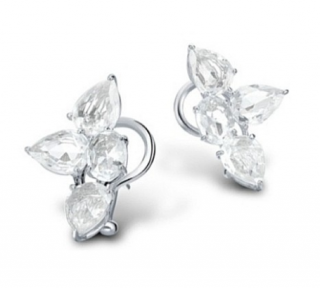William & Son Beneath The Rose White Sapphire Earrings