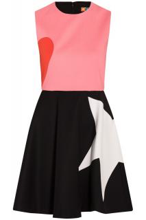 MSGM Colourblock Sleeveless Mini Dress