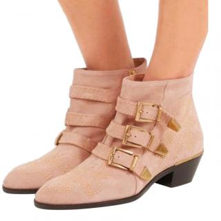 Chloe Suede Studded Maple Pink Susanna Boots