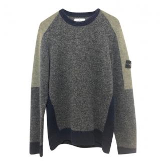 Stone Island Junior Wool Blend Crew Neck Jumper