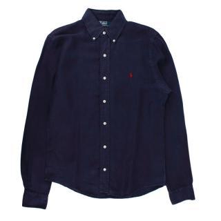 Polo Ralph Lauren Navy Cotton Long Sleeve Shirt