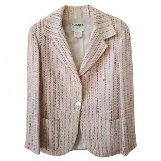 Chanel Pastel Striped Tailored Tweed Jacket