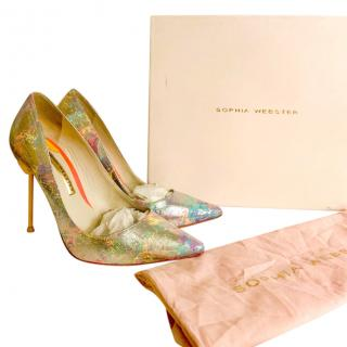 Sophia Webster Patent Rainbow Coco Pumps