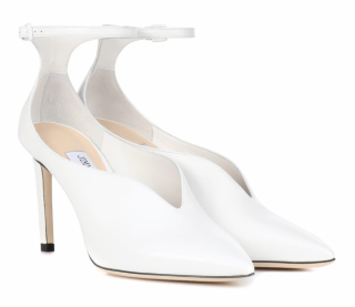 Jimmy Choo white leather Sonia 85 Pumps