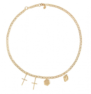 Maria Black Gold Plated Stories Necklace