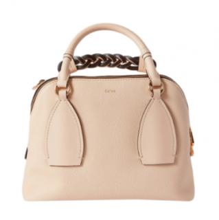 Chloe Sweet Beige Grained & Shiny Calfskin Daria Medium Handbag