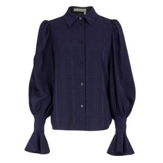 See by Chloe Blue Puff Sleeve Blouse