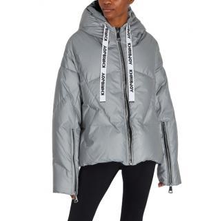 Khrisjoy Silver Hooded Puffer Jacket