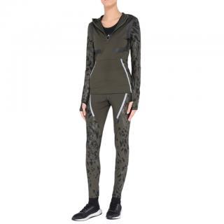 Adidas By Stella McCartney Green Running Hoodie & Tights