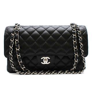 Chanel Black Caviar Calfskin Classic Double Flap Bag SHW