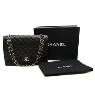 Chanel Black Caviar Calfskin Maxi Flap Bag