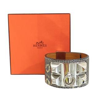 Hermes Lizard Leather Ombre Collier De Chien