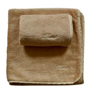 Pratesi Beige Cotton Home Towel Set