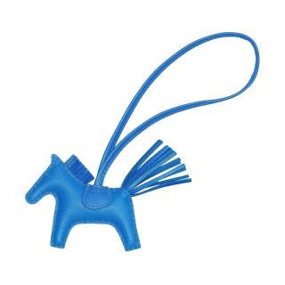Hermes Bleu Zanzibar Rodeo PM Bag Charm