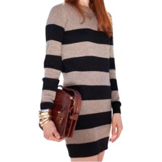 Stella McCartney Grey & Dark Green Wool & Cashmere Jumper Dress