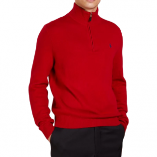Polo Ralph Lauren Red Wool High Neck Pullover