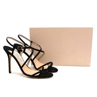 Jimmy Choo Black Suede Issey Strappy Sandals