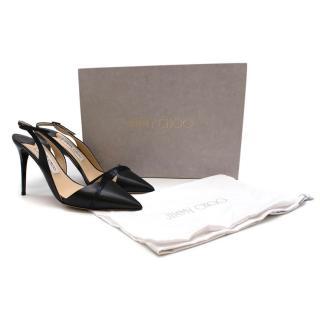 Jimmy Choo Leather Embellished Slingback Sandals