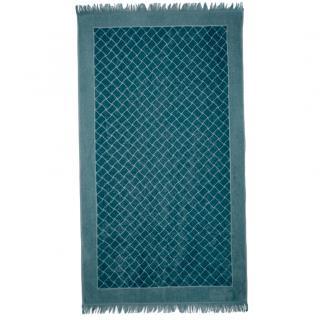 Bottega Veneta Blue Intrecciato Motif Beach Towel
