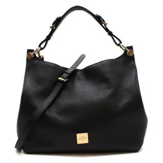 Mulberry Black Grained Leather Tote Bag
