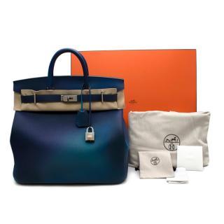 Hermes Blue Nuit / Violet Limited Edition Cosmos HAC Birkin 40