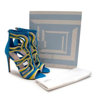 Peter Pilotto Cage Leather & Suede Sandals
