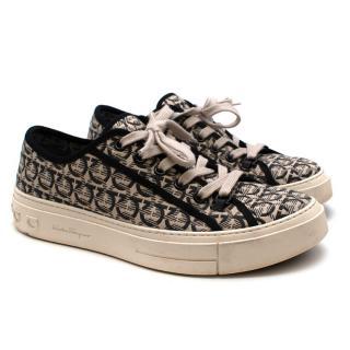 Salvatore Ferragamo Gancini Jacquard Sneakers