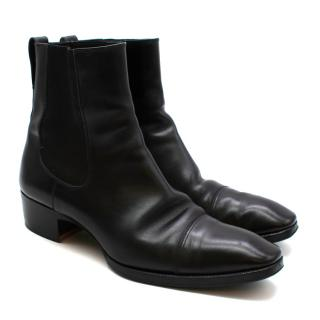 Tom Ford Black Leather Chelsea Boots